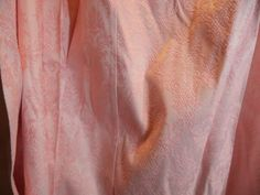 Vintage Thermalgard  Drapes Curtains Pink  white Brocade Jacquard 4 Sears  #Thermalgard