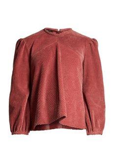 4d5175ed52 Isabel Marant Riley V-neck cotton-corduroy top Swing Top, Cloak, Comebacks