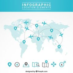 Travel map infographic Free Vector