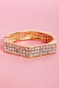 #gold #rhinestones #bracelet