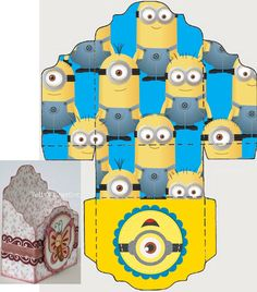 Minion Birthday, Minion Party, 2nd Birthday, Minion Craft, Diy And Crafts, Paper Crafts, Minions Despicable Me, Funny School Memes, Cute Box