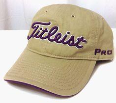 a3a7ea65946 TITLEIST GOLF HAT Dark-Khaki Purple White Pro V1 FJ Relaxed-Fit Cotton  Men Women  Titleist  BaseballCap