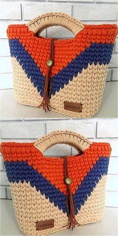 trending design of crochet bag Tricot et Crochet Simple Yet Attractive Crochet For Various Projects Bag Crochet, Crochet Handbags, Crochet Purses, Crochet Gifts, Crochet Clothes, Crochet Stitches, Crochet Baby, Free Crochet, Crochet Things