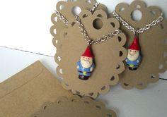 Gnome necklace  on Etsy.....travel gnome ?  @Kristi Green @Tai Bender Green  lol