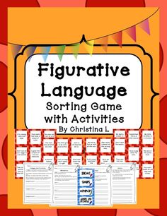 Figurative Language Game:  This covers similes, metaphors, idioms and adages and proverbs.