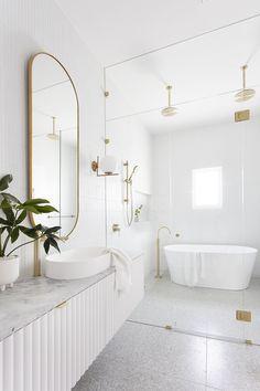 Beach House Bathroom, All White Bathroom, Laundry In Bathroom, Bathroom Design Inspiration, Bathroom Interior Design, Bathroom Goals, Upstairs Bathrooms, Bathroom Renos, Bathroom Styling
