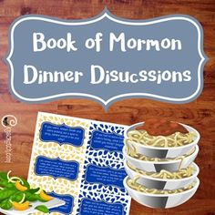 Book of Mormon Themed Discussions - Printable Book of Mormon, game, Family Dinner, printable,