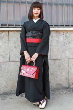 Kimono Fashion, Fashion Art, Womens Fashion, Modern Kimono, Japanese Outfits, Japanese Beauty, Yukata, Japanese Kimono, Japanese Culture