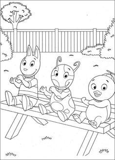 coloring page Backyardigans Kids-n-Fun