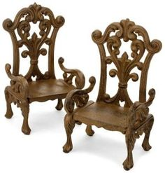 Cast iron chair bookends