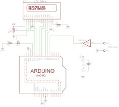 arduino frequency counter schematic circuit 500x453 Arduino frequency counter, guide how to make it?