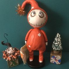Polymer Clay Halloween, Halloween Doll, Halloween Horror, Halloween Crafts, Happy Halloween, Christmas Makes, Xmas, Voodoo Dolls, Pumpkin Crafts