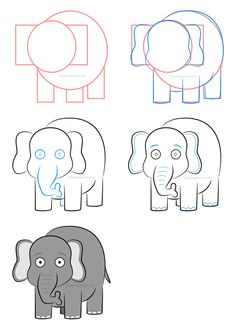 How to draw an elephant - Click on the illustration above to learn how to draw this character and learn a few exclusive drawing techniques not displayed in this image!