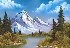 Nature art painting bob ross new ideas Watercolor Landscape, Landscape Art, Landscape Paintings, Landscape Photography, Nature Photography, Mountain Paintings, Nature Paintings, Beautiful Paintings, Beautiful Landscapes