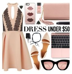 """""""Dress under $50"""" by pastelneon ❤ liked on Polyvore featuring Miss Selfridge, Charlotte Russe, Quay, Casetify, Perricone MD, Chanel and Dressunder50"""