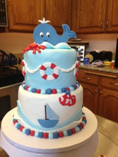 baby shower natical cakes | Nautical Baby Shower