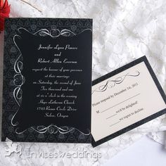 You have to admit that black and white wedding invitations are the perfect way to add flawless elegance to your weddings. If you choose black and white as your wedding colors, you would not probably want your guests t. Black And White Wedding Invitations, Wedding Invitations Online, Beautiful Wedding Invitations, Party Invitations, Shower Invitation, Invitation Cards, Invites, Renewal Wedding, Fall Wedding