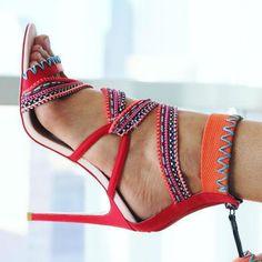 Gwen Stefani Multiple Ropes Sandals