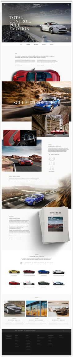 Aston Martin Vehicle Landing Page Web Design Creative Web Design, Web Ui Design, Email Design, Page Design, Layout Design, Web Layout, Website Design Inspiration, Design Ideas, Beautiful Web Design
