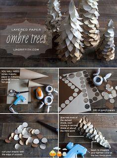 Ombre Tree DIY. Finally, a non-tacky craft.