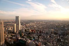 View of Shinjuku city from the top of the government towers