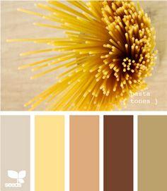 Pasta tones from www.design-seeds.com
