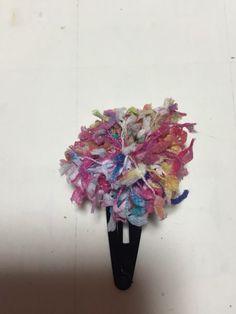 リボンヤーンを使って作ってます。リボン部分3センチ春らしいかわいい色合いです。|ハンドメイド、手作り、手仕事品の通販・販売・購入ならCreema。
