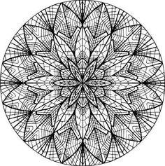 Mandala moderne pour adulte à imprimer et à colorier
