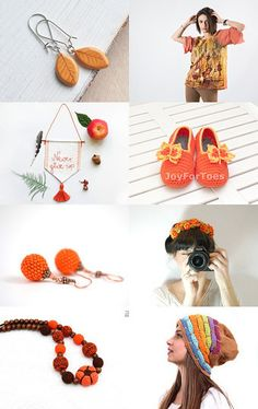 Orange! by Milly Sorrentino on Etsy--Pinned with TreasuryPin.com