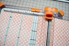 how to make mitered corners for scrapbook pages...great tutorial...