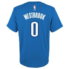 e100f022a Boys 4-7 Oklahoma City Thunder Russell Westbrook Name and Number Tee