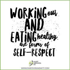 Working Out and Eating Healthy are forms of SELF-RESPECT and SELF-LOVE. - Do you respect your body? In what ways? -  - Hacer Ejercicio y Comer Saludable son formas de Auto-Respeto y Amor Propio - Tu respetas tu cuerpo? En que maneras? - . . http://ift.tt/1T4hZ2a . fb twitter snapchat pinterest @MaryMirandaFit . http://ift.tt/2bwEU9X