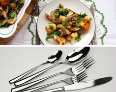 Dinner Utensils | Discount Kitchenware Items | Under $50 Gift Ideas For People Who Love To Cook | https://homemaderecipes.com/discount-kitchenware-gift-ideas/