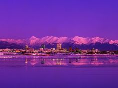 This is a gorgeous shot of my hometown Anchorage during the wintertime...