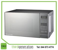 The #RussellHobbs microwave has been designed with style and practicality in mind. This attractive appliance also has impressive functionality. Now available from #ThirdGenerationCAW. #Appliances
