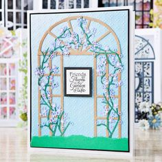Garden themed card from the @tatteredlaceuk Build a Scene Multibuy, shop now at C+C: http://www.createandcraft.tv/pp/tattered-lace-build-scene-die-multibuy-348805?referrer=search&fh_location=//CreateAndCraft/en_GB/$s=348805 #cardmaking #papercraft