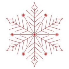 Best Stitches In Embroidery Redwork Snowflakes 1 machine embroidery designsRedwork Snowflakes 1 machine embroidery designs Embroidery Cards, Folk Embroidery, Learn Embroidery, Christmas Embroidery, Cross Stitch Embroidery, Machine Embroidery Designs, Embroidery Patterns, Snowflake Embroidery, Embroidery Tattoo