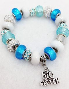 Big Sister Charm Bracelet - European Style- Great Gift on Etsy, $20.00