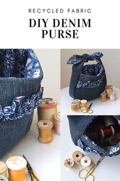 Recycled Denim Purse with Cricut and Simplicity - Chambray Blues Diy Denim Purse, Diy Purse, Denim Bag, Sewing Blogs, Easy Sewing Projects, Sewing Tutorials, Recycled Denim, Recycled Fabric, Simplicity Sewing Patterns