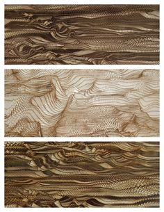 Obsession of the Week: Wood laser engravings by Holger Lippmann.