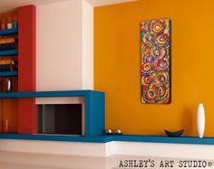 Colorful Painting Circles  Original Acrylic by AshleysArtStudio