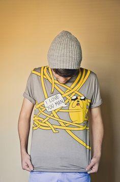 t-shirt, adventure time, jake the dog, tshirt, hug - Wheretoget