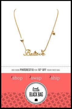 Disney Couture Rhinestone :: Disney :: Rhinestone :: Gold :: Believe :: Necklace