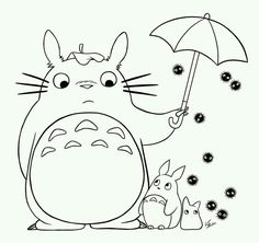 40 Meilleures Images Du Tableau Coloriage Totoro Hayao Miyazaki