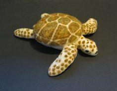 Needle Felted Sea Turtle Sculpture Custom OOAK by FarmGirlArts