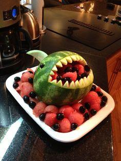 My own take on the shark fruit design abadinBandB.ca