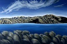 New Zealand artist Nz Art, Art For Art Sake, Landscape Paintings, New Zealand, Diana, Waves, House Art, Outdoor Decor, Artwork