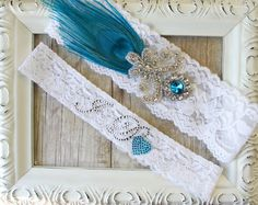NEW Lace Wedding Garter w/ toss  Vintage Garter by TheLoveStory, $29.95