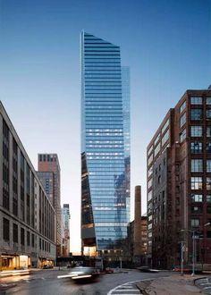 10 Hudson Yards,美国纽约 由KPF事务所设计的10 Hudson Yards,是知名时尚品牌Coach的全球总部大楼。它坐落于纽约高线公园的尽头,因此在大楼里面工作的人,可以饱览这条由废弃铁路改造而成的线性公园全景,作为工作之余的休息、放松。