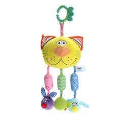 Baby Rattles Toys Bed Hanging Bell with BB Device Infant Doll Teeither Educational Toys Christmas Gift Dolls